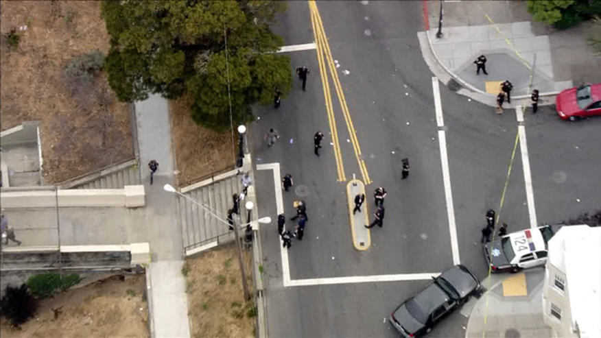 Police raced to the scene at San Francisco's Dolores Park.