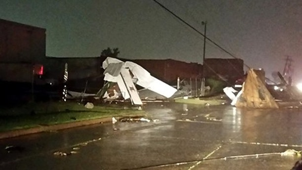 Businesses Damaged by Possible Tornado in Tulsa