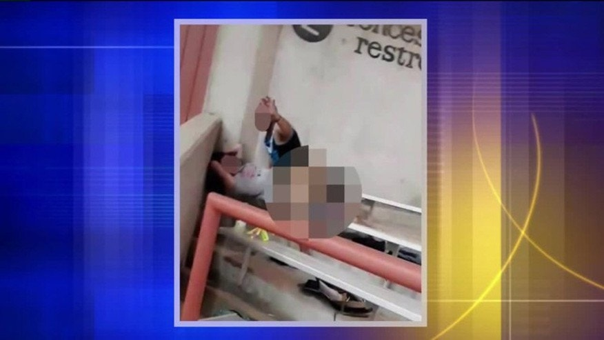 A couple was caught on camera allegedly having sex at the Wisconsin State Fair.