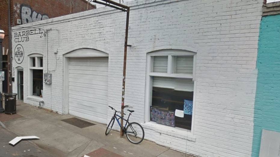 EAV Barbell Club posted an obscene sign on its door.