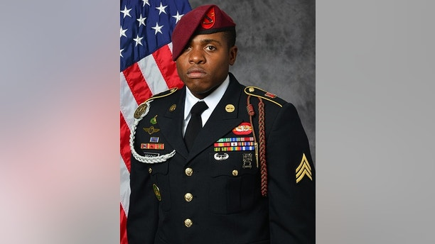"In this image released by the U.S. Army, Sgt. Roshain E. Brooks of the Brooklyn borough of New York, is photographed in an official portrait. According to the Pentagon Brooks and Allen L. Stigler Jr., of Arlington, Texas, were killed Sunday, Aug. 13 in Iraq were casualties of a U.S. artillery ""mishap."" (U.S. Army via AP)"