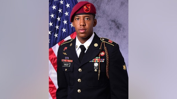 "In this image released by the U.S. Army, Sgt. Allen L. Stigler Jr., of Arlington, Texas, is photographed in an official portrait. According to the Pentagon, Stigler and Sgt. Roshain E. Brooks were killed Sunday, Aug. 13 in Iraq were casualties of a U.S. artillery ""mishap."" (U.S. Army via AP)"