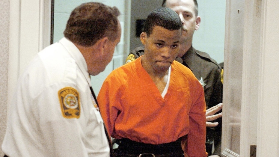 In this Oct. 26, 2004, file photo, Lee Boyd Malvo enters a courtroom in the Spotsylvania, Va., Circuit Court.