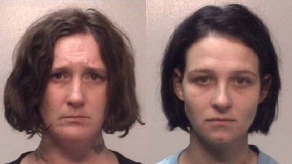 Emma Nolan, left, and Brenda Gaddy, right, were arrested after Nolan's 12-year-old daughter was found with a tattoo.