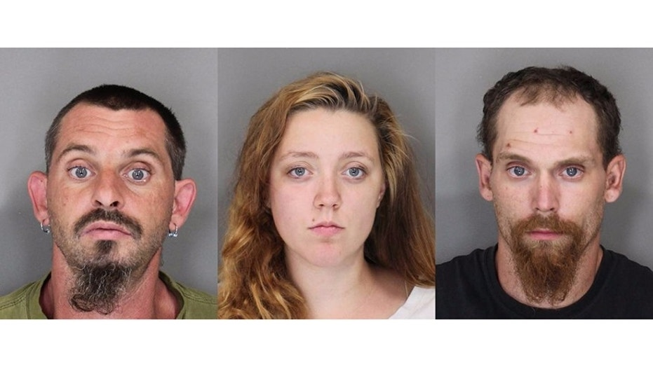 Gary Bubis Jr. (left), Brandy Shaver (middle) and Shawn Whaley (right) have all been charged with second-degree assault of a 10-year-old girl.