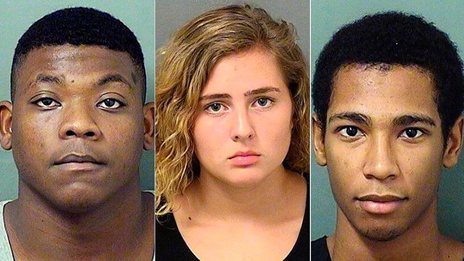 Mug shots for Jace Swinton, 18, Summer Church, 16, and Roberto Ortiz, 18, charged with July murder of MMA's Aaron Rajman in Florida.