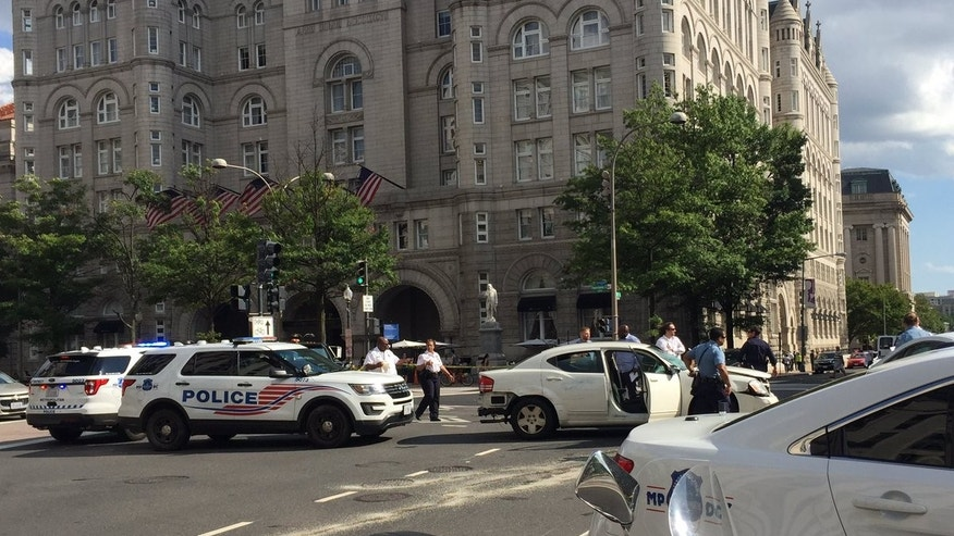 Police Chase Results In Crash In Front Of DC Trump Hotel