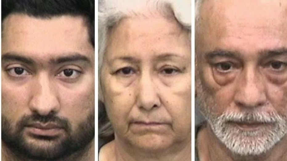 Devbir Kalsi, 33, and his parents Bhupinder Kalsi, 61, and Jasbir Kalsi, 67, were arrested for assaulting Devbir's wife, Silky Gaind, 33, Saturday, in Riverview, Fla.