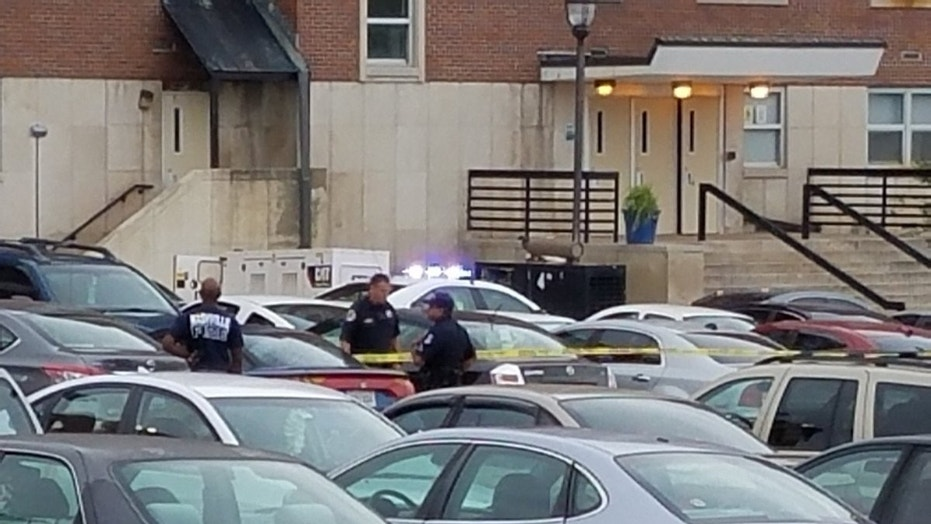 At least one person was shot in the chest in a parking lot on the Tennessee State University campus.