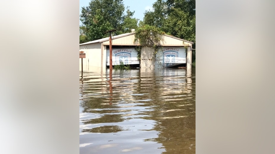 The small town of Deweyville in Texas was hard hit by Hurricane Harvey.