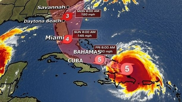 Irmas Projected Path Shifts West Florida More Firmly In - Fox news us map
