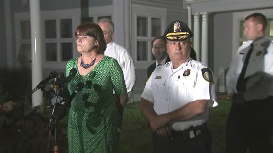 Middlesex District Attorney Marian Ryan, left, said 22-year-old Orion Krause will be charged with four counts of murder for deaths at a home in Groton, Massachusetts — the first homicides in the small town since 1996. (WFXT)