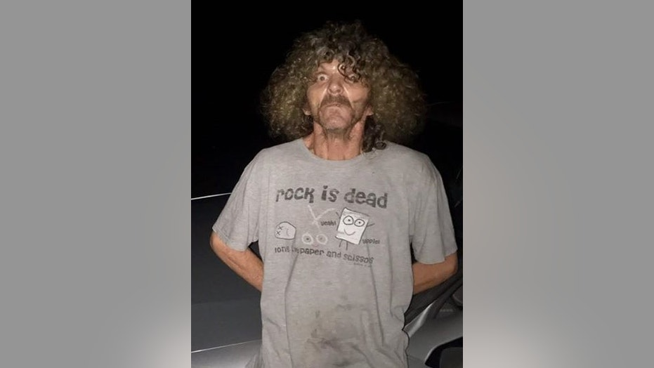 Steven Holley, 55, peed on a deputy in California while being arrested for drug possession.