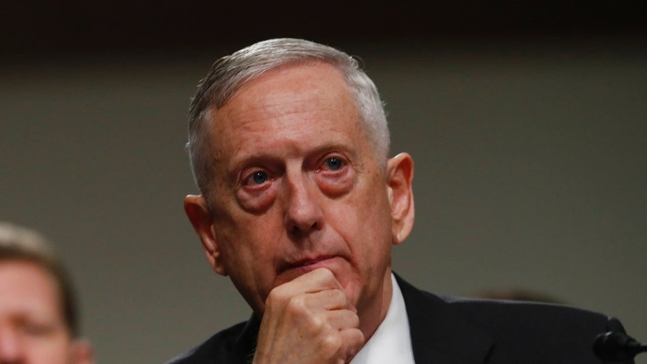 U.S. Defense Secretary Jim Mattis is seen at a hearing in Washington, June 13, 2017.