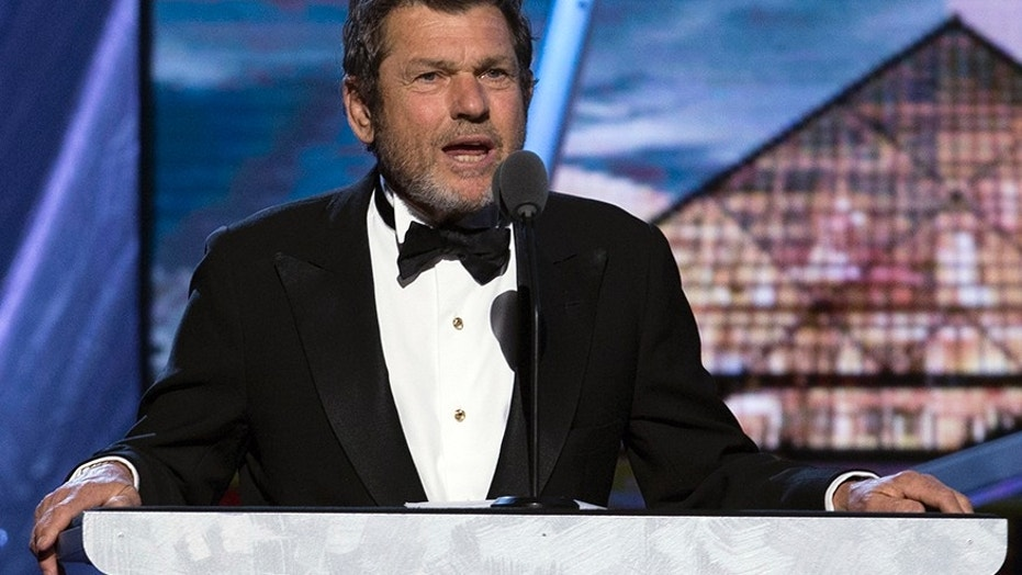 April 10, 2014: Jann Wenner, co-founder and publisher of Rolling Stone magazine, speaks during the 29th annual Rock and Roll Hall of Fame Induction Ceremony at the Barclays Center in Brooklyn, N.Y.