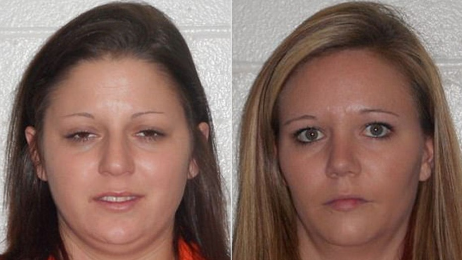 Kayla Jones (left), 26, and Rachel Stevens (right), 29, were sentenced to 20 years in jail after severely beating a 5-year-old boy, landing him in the hospital, reports said.