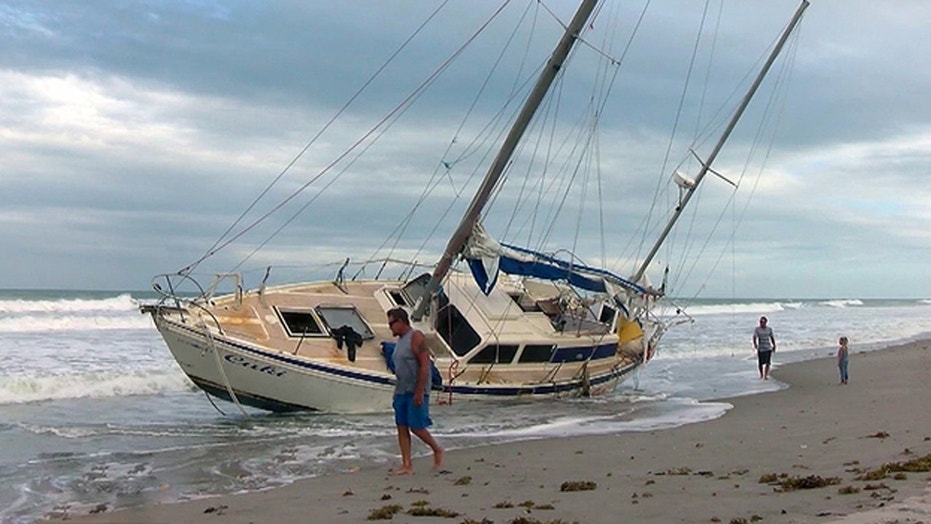 Residents discovered an abandoned ghost boat in Melbourne Beach, Florida.