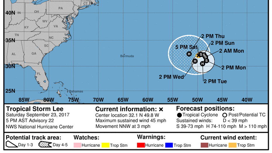 Tropical Storm Lee could be near hurricane strength by next week