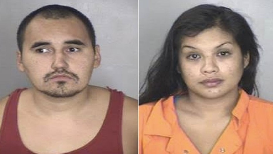 Alex Morawhitehurst (left) and Krystal Williams (right) were arrested on Friday after they left their 1-year-old boy to go to a bar.