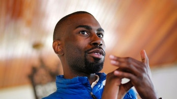 FILE – In this March 26, 2016, file photo, Black Lives Matter activist DeRay Mckesson, chatting with campaign volunteers in Baltimore. A federal lawsuit accuses Black Lives Matter and several movement leaders of inciting violence that led to a gunman's deadly ambush of law enforcement officers in Baton Rouge last summer. Mckesson and four other Black Lives Matter leaders are named as defendants in the suit filed Friday on behalf of one of the officers wounded in the July 17 attack by a black military veteran, who killed three other officers before he was shot dead. (AP Photo/Patrick Semansky, File)