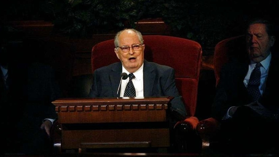 Mormon Elder Robert D. Hales speaking at the 181st Semiannual General Conference in Salt Lake City, in 2011.
