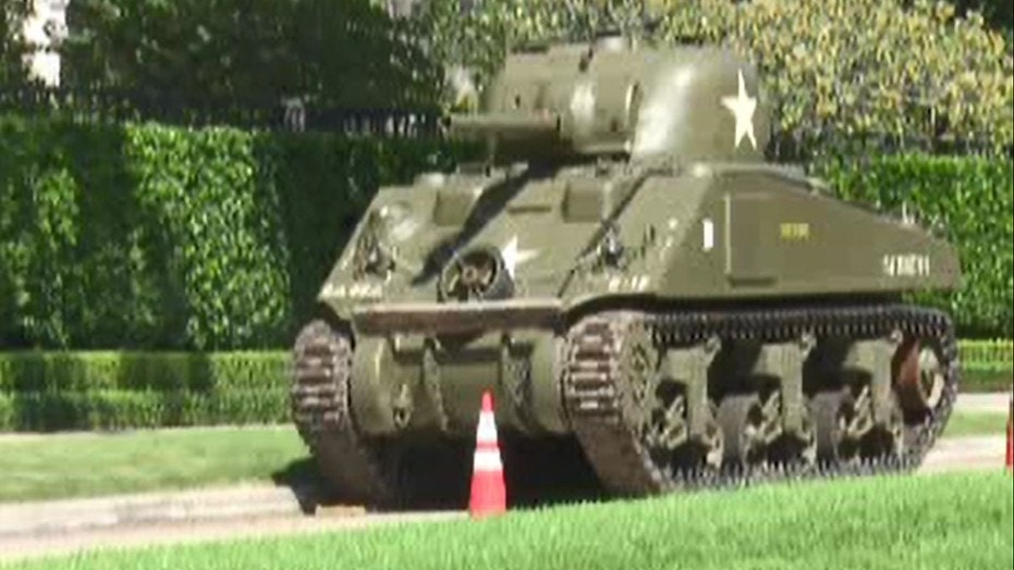 Attorney Tony Buzbee bought a fully functional World War II tank overseas last year for $600,000 and parked it outside his home in River Oaks, Texas.