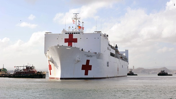 USNS Comfort responds to second hospital generator failure in Puerto Rico