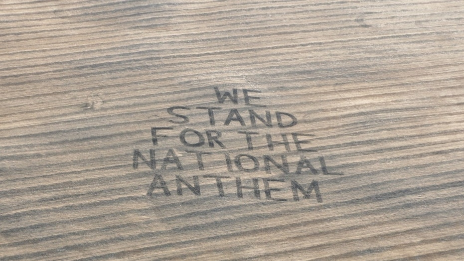 "Farmer Gene Hanson plowed a message for the NFL -- ""We Stand for the National Anthem"" -- into his field in North Dakota."