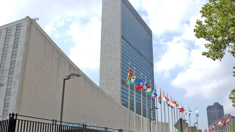 The United Nations headquarters is seen in New York, Friday, July 27, 2007 .