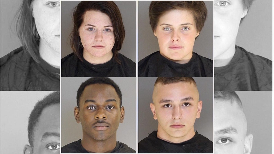 Cops: 4 airmen painted satanic symbols on S Carolina church