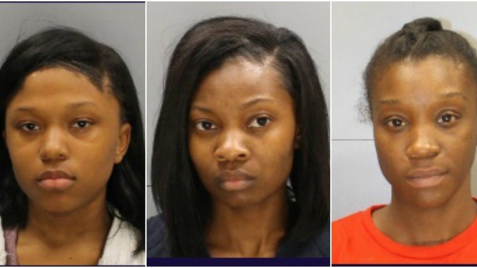 Zaqueira, Shontavia and Shaquana Bacote (left to right) were arrested after allegedly assaulting a 12-year-old girl in her home.