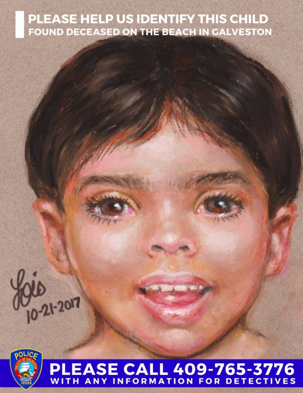 Sketch shows boy found dead on Texas beach as police try to determine his identity