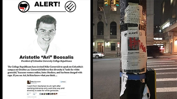 Antifa targets Columbia U Republican students with wanted-style posters