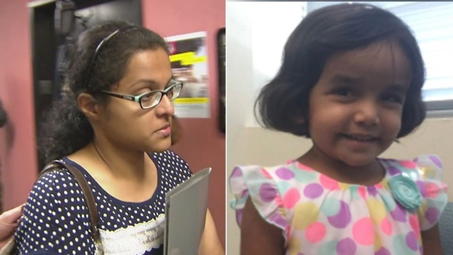The mother of a dead 3-year-old girl from Richardson, Texas denies any role in her death.