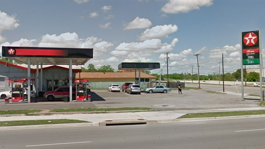 Fort Worth police say a 77-year-old man was robbed after being given a ride in a car by a panhandler who approached him at this Texaco gas station.