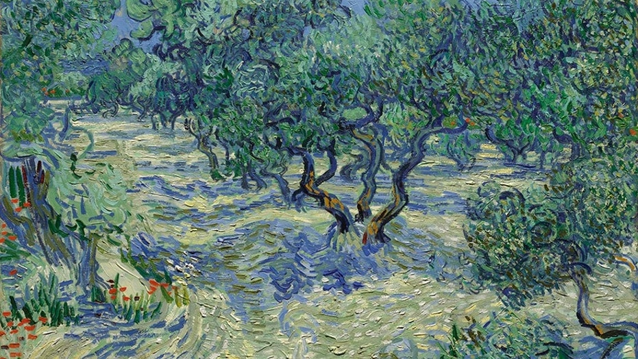 "Vincent van Gogh's painting ""Olive Trees."""