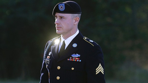 FILE - In this Jan. 12, 2016, file photo, Army Sgt. Bowe Bergdahl arrives for a pretrial hearing at Fort Bragg, N.C. Prosecutors argue that serious injuries to two soldiers who searched for Bergdahl in 2009 show that he endangered his comrades by leaving his post in Afghanistan. Lawyers for Bergdahl are seeking to limit the severity of punishments he could face through new arguments attacking the structure of the case against him.  (AP Photo/Ted Richardson, File)