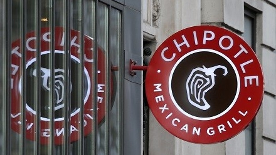 The logo of Chipotle Mexican Grill is seen at a restaurant, March 7, 2016.