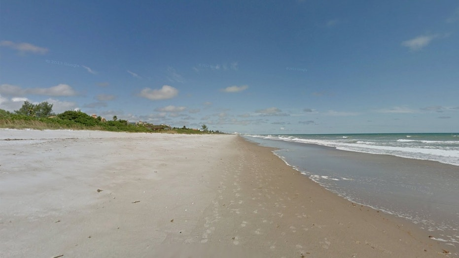 Melbourne Beach in Florida, where nearly 50 pounds of cocaine washed ashore.
