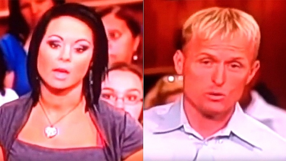 "Michelle Parker, left, disappeared six years ago after an episode aired on ""The People's Court,"" showing Parker sparring with her ex-fiancé, Dale Smith, right."