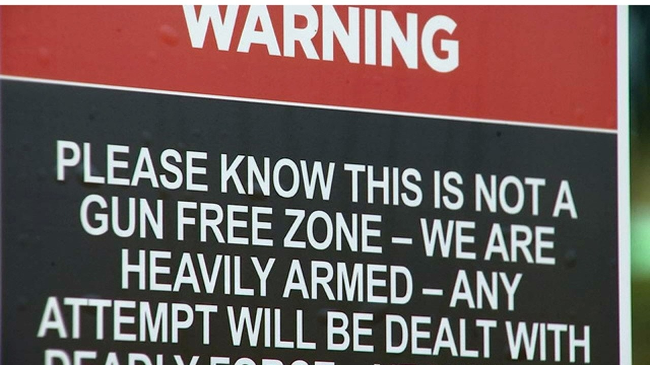 Florida church warns at every door 'we are heavily armed'