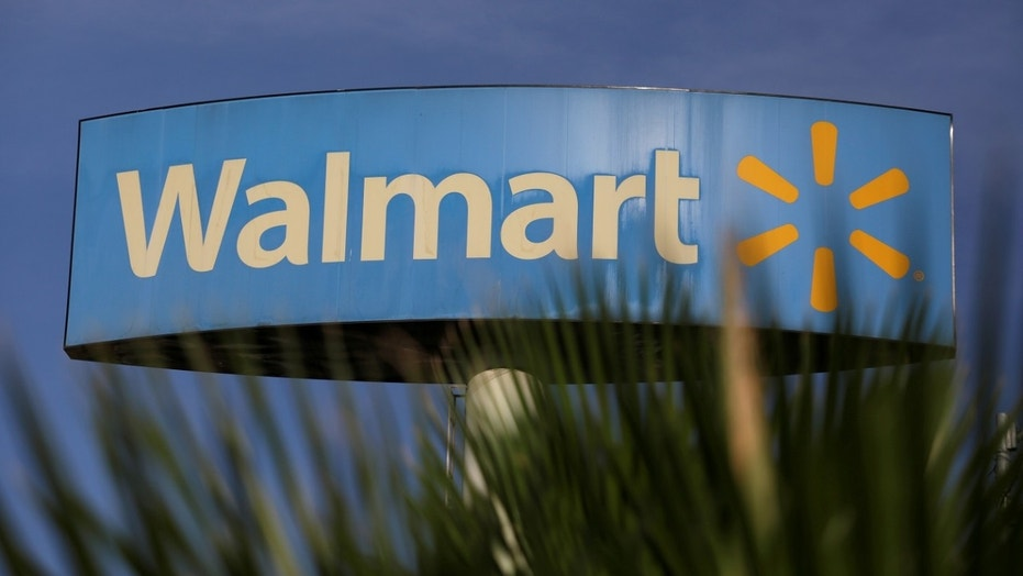 A Walmart sign is pictured outside a store in Monterrey, Mexico, April 26, 2017.