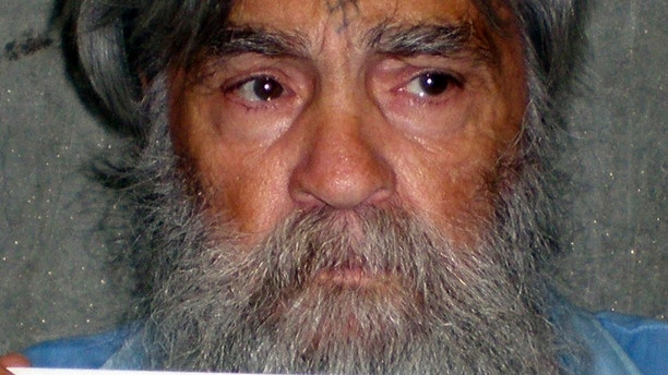 Convicted mass murderer Charles Manson is shown in this handout picture from the California Department of Corrections and Rehabilitation dated June 16, 2011 and released to Reuters April 8, 2012. Manson, one of America's most notorious convicts, was denied parole on April 11, 2012, in his 12th and possibly final bid for release from a California prison, state corrections officials said.  REUTERS/CDCR/Handout   (UNITED STATES - Tags: CRIME LAW HEADSHOT TPX IMAGES OF THE DAY) FOR EDITORIAL USE ONLY. NOT FOR SALE FOR MARKETING OR ADVERTISING CAMPAIGNS - GM1E84C0A8N01