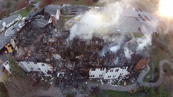This photo provided by the Bureau of Alcohol, Tobacco, Firearms and Explosives shows an aerial of Barclay Friends Senior Living Community in West Chester, Pa., Friday, Nov. 17, 2017. Authorities struggled Friday to account for the whereabouts of all the residents of a Pennsylvania senior living community after a massive blaze tore through their complex during the middle of the night, injuring nearly 30 and leading to a chaotic evacuation. (ATF via AP)