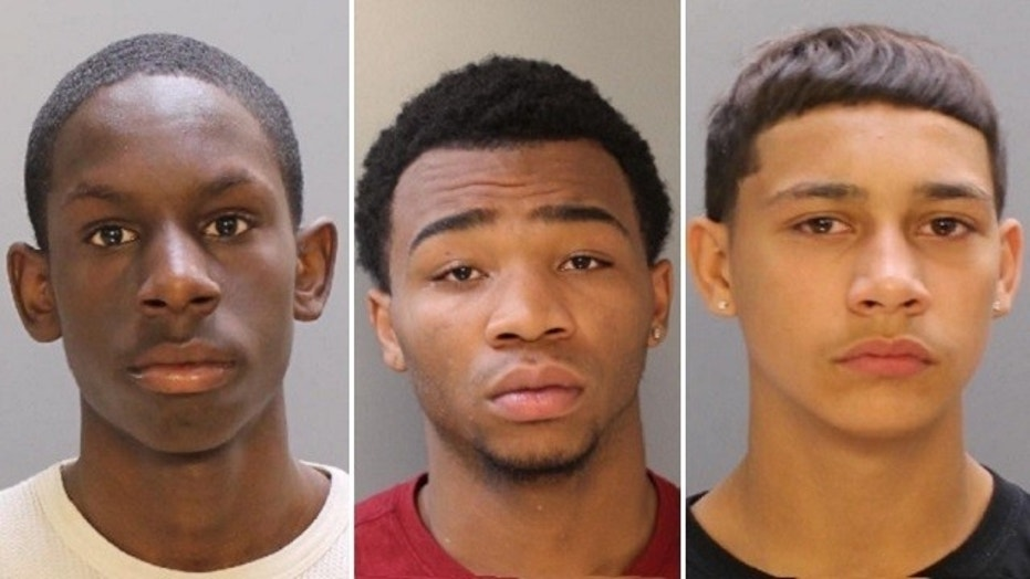Brandon Conrad, 14, left, Malik Page, 16, and Emmanual Harris, 17, were charged as adults in the beating death of Kevin Cullen.