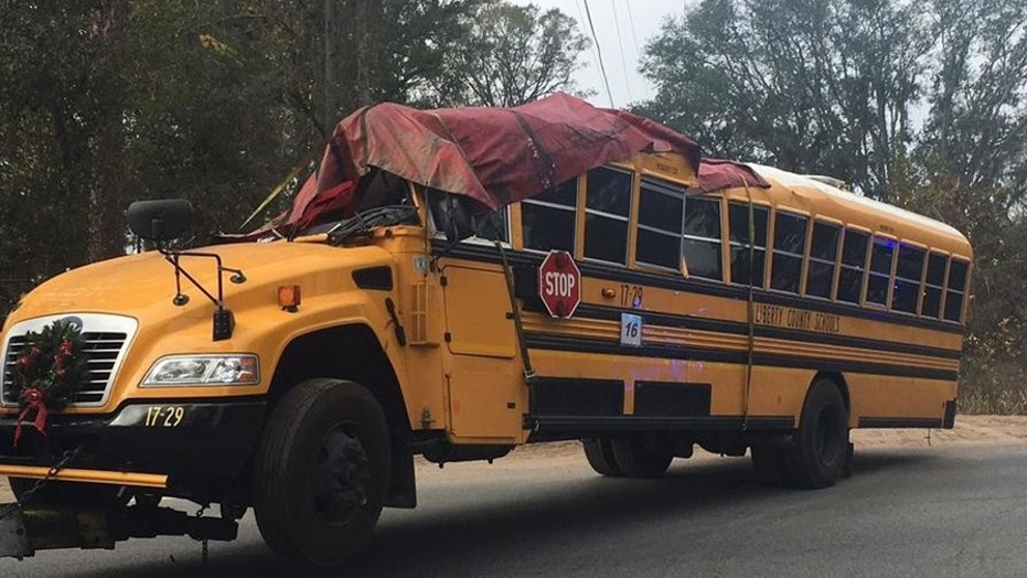 A 5-year-old girl was killed and 22 others were injured when a school bus crashed into a tree in Georgia.