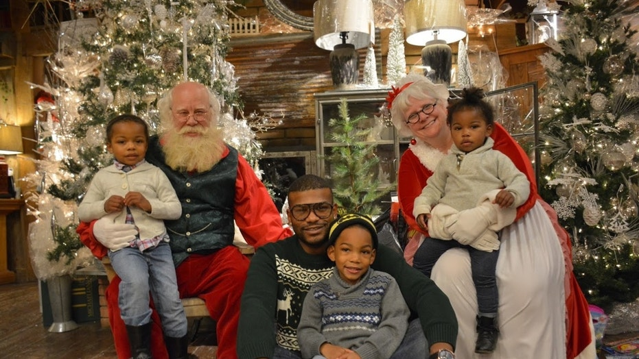 Veterans' families got the chance to visit with Mr. and Mrs. Claus at the event in Ohio.