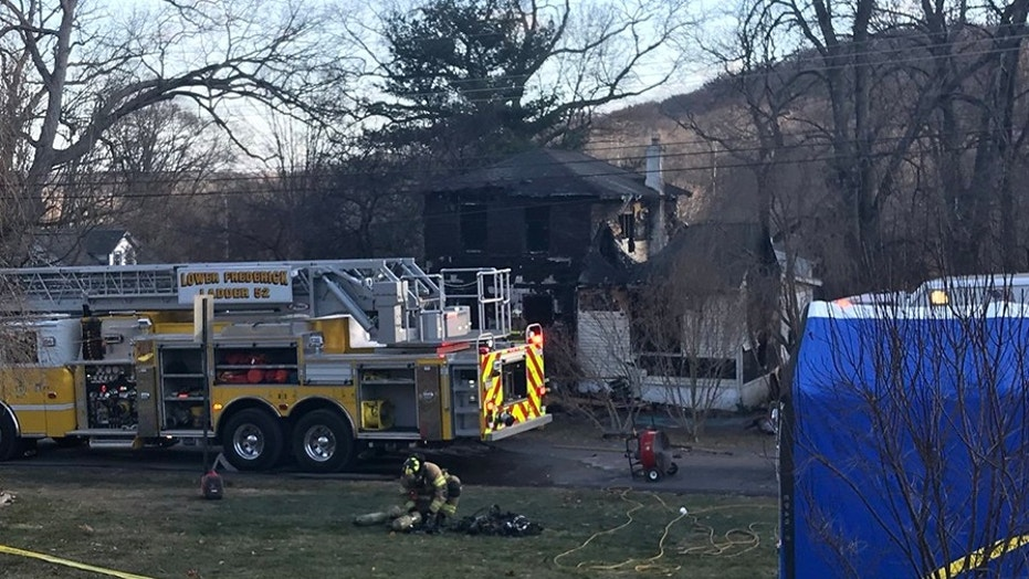 Deputy sheriff's 2 sons die in house fire near Philadelphia