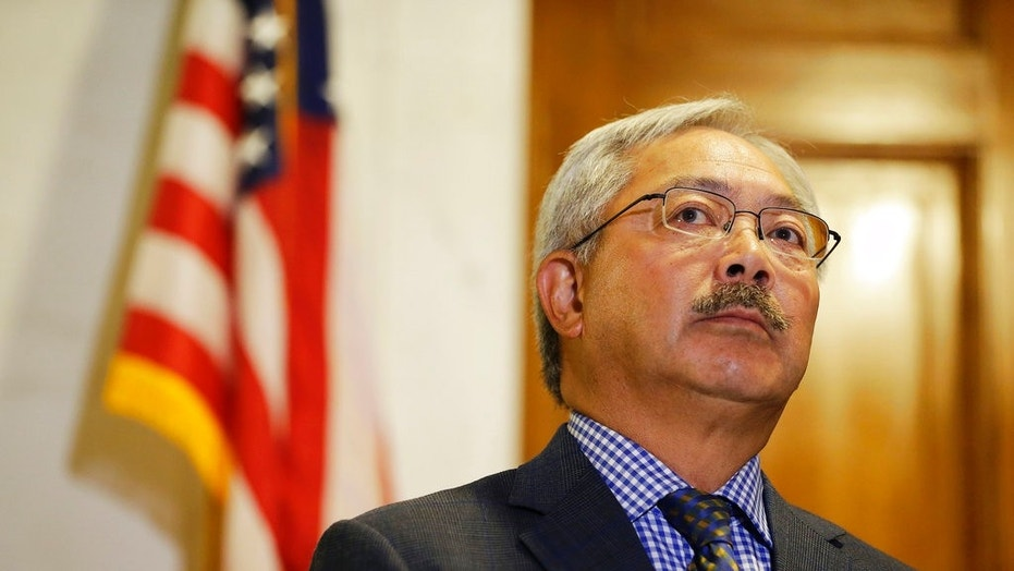 FILE 2017: San Francisco Mayor Ed Lee listens to questions during a news conference at City Hall in San Francisco.