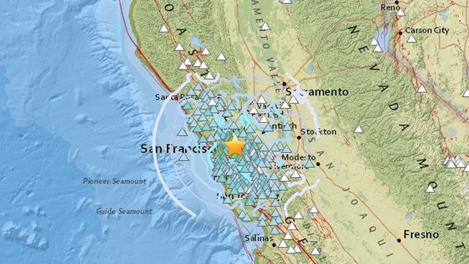 The U.S. Geological Survey says the quake's epicenter was 2 miles from Berkeley, California
